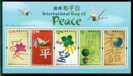 HONG KONG CHINA BF 151 Journée Mondiale De La Paix - 1997-... Région Administrative Chinoise