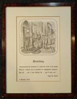 REPRODUCTIE: Besteding Der Armen 1870 - Prenten & Gravure