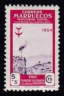 TIMBRE NEUF DU MAROC BUREAUX ESPAGNOLS - CIGOGNE (AU PROFIT DES OEUVRES ANTITUBERCULEUSES)  N° Y&T 458 - Ooievaars