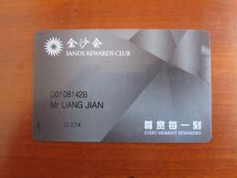 Macao Sands Rewards Club, Black Color - Casino Cards