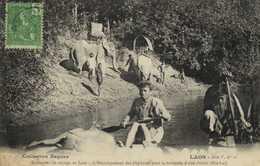 LAOS Comment On Voyage Au Laos Dechargement Des Elephants Pour La Traversée D'un Rivière (Hin Lat)+ Beau Timbre 5c RV - Laos