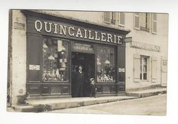 QUIMPERLE CARTE PHOTO QUINCAILLERIE MAISON MOREAU /FREE SHIPPING REGISTERED - Quimperlé