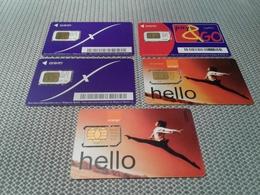 Belgium - 5 Different USED Sim Phonecards With Rarer - Belgium