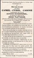 Wijtschate, Wytschate,1949, Camiel Caigne, Scherpereel, Platteeuw - Images Religieuses