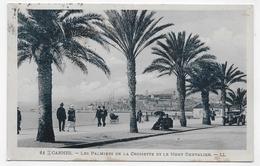 (RECTO / VERSO) CANNES EN 1924 - N° 11 - LES PALMIERS DE LA CROISETTE - BEAU TIMBRE ET CACHET - CPA - Cannes