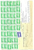 ORDRE DE REEXPEDITION MARCQ EN BAROEUL 59 NORD 1996 - 46 MARIANNES DE BRIAT POUR 11O FRANCS ( VOIR LE SCANNER ) A SAISIR - Post