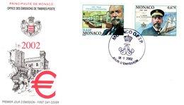 """"""" LOUIS II """" Sur Enveloppe 1er Jour De 2002. Parfait état Mais FERMEE. FDC - FDC"""
