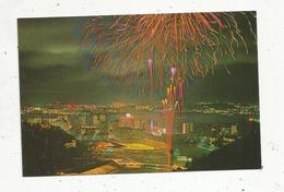 Cp, CHINE ,HONG KONG , The Night Piece Of The Eastem District Of The Island Under The Fireworks, Vierge - Chine (Hong Kong)