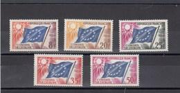 France - 1958 - Service - N°YT 17**à 21**  - Conseil De L'Europe Drapeau Du Conseil - Servizio