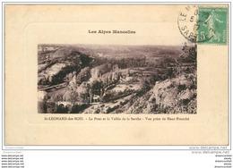 72 SAINT-LEONARD-DES-BOIS. Pont Et Vallée Sarthe 1917 - Saint Leonard Des Bois
