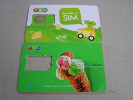 2 X THAILAND  1 New 1 Used  SIM  Cards Expired Date - Tailandia