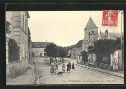 CPA Thorigny, La Place De L`Eglise - France