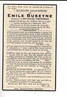 DP 8567 - EMILE BUSEYNE  - DICKEBUSCH 1880 + 1937 - Images Religieuses