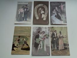 Beau Lot De 60 Cartes Postales De Fantaisie  Couples  Couple    Mooi Lot Van 60 Postkaarten Fantasie  Koppel - 60 Scans - Postkaarten