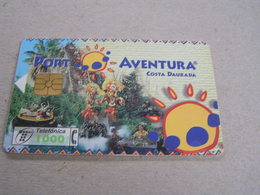 SPAIN Used Chipcard   Porta Adventura - Espagne