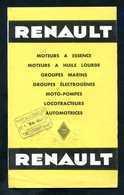 """Publicité Pour Moteurs Renault """"locotracteur De Mines, Automotrice Etat Ou SNCF, ...""""  Marie & Chapelais à Tinchebray - Machines"""