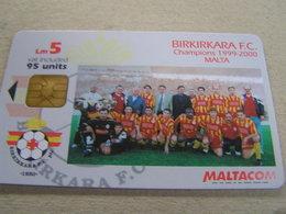 MALTA  Used Chipcard  CARLING Champions Manchester United  99-2000 - Malta