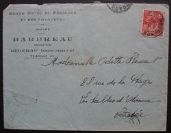 Ribérac (Dordogne) Grand Hôtel Du Périgord Et Des Voyageurs Barbreau - Marcophilie (Lettres)