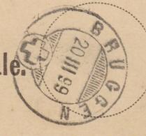 SG   BRUGGEN - PETERSZELL  /  SUPER STEMPEL - 1882-1906 Wappen, Stehende Helvetia & UPU