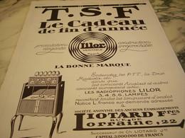 ANCIENNE PUBLICITE  RADIOPHONE  AVEC LILOR 1923 - Autres