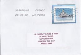 TP N° 5307  SUR LETTRE DE 2019  POUR ANGLETERRE - Postmark Collection (Covers)