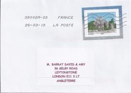 TP N° 5310  SUR LETTRE DE 2019  POUR L'ANGLETERRE - Postmark Collection (Covers)