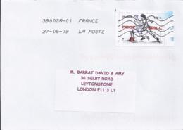 TP N° 5330 SUR LETTRE DE 2019 POUR L'ANGLETERRE - Postmark Collection (Covers)