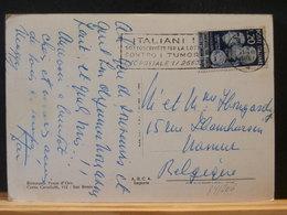 84/205  CP ITALIE POUR LA BELG. 1951 - 1946-60: Poststempel