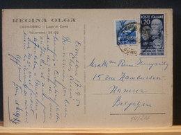 84/206  CP ITALIE POUR LA BELG. 1950 - 1900-44 Vittorio Emanuele III
