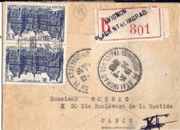 84 - VAUCLUSE - AVIGNON PL. STALINGRAD  TàD DE TYPE A6 DE 1948 - Marcophilie (Lettres)
