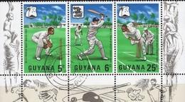 Cricketspiel 1968 GUYANA 298/0+ZD O 4€ Kricketclub Spielszenen Wap S/s Sport Cricket Se-tenant Tour Bf Southamerica - Guyana (1966-...)