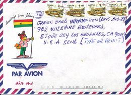Ghana Air Mail Cover Sent To USA - Ghana (1957-...)