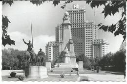 Spain > Madrid,monument Cervantes - Machine Stamp - Postcard Via France - Madrid