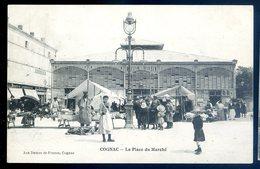Cpa Du 16  Cognac La Place Du Marché  LZ95 - Cognac