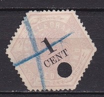 1877-1903 Telegramzegels 1 Cent Lila En Zwart NVPH TG 1 - Telegraphenmarken
