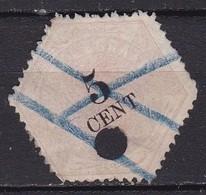 1877-1903 Telegramzegels 5 Cent Lila En Zwart NVPH TG 3 - Telegraphenmarken