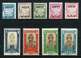 Gabón (Francés) 9 Tasas En Nuevo* Cat.10,30€ - Gabon (1886-1936)