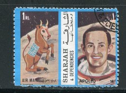 SHARJAH- Timbre Oblitéré (Apollo 16) - Espacio
