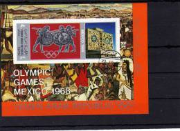 Mexiko 1968 Olympiade Jemen Block 77 O 11€ Imperforiert Folklore Tanz Hoja Art History Blocs Olympic Sheet Bf Yemen - Summer 1968: Mexico City