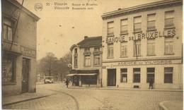 CPA BELGIQUE VILVORDE VILVOORDE Banque De Bruxelles Cafe De La Ruche Rare 1929 - Vilvoorde