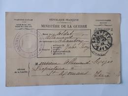 1915 - MINISTERE DE LA GUERRE - BULLETIN DE SANTE D'UN MILITAIRE - Chambery Vers Saint-Romans .... Lot41 . - Marcophilie (Lettres)