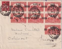 ALGERIE 1939 LETTRE DE ALGER POUR DELEMONT - Cartas