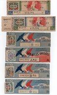- 6 SOUCHES DE BILLETS DE LOTERIE NATIONALE 1946 - CRÉDIT DU NORD - LES AILES BRISÉES - - Biglietti Della Lotteria