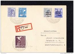 SBZ: R-Orts-Doppel-Brief Mit 10-fach-Frankatur In MiF Mit SBZ-Aufdr.auf 12,50 Pf, Ua. SSt. GRÜNAU (Vogtl.) Knr:960 ZF 3c - Zone Soviétique