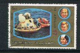 FUJEIRA- Timbre Oblitéré (Apollo 17) - Espacio