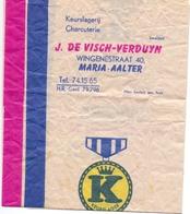 Pub Reclame - Inpakpapier Keurslagerij J. De Visch - Verduyn - Maria Aalter Ca 1960 - Publicités