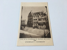 AE - 5 - Le STRASBOURG Disparu - Place De La Cathédrale Et Château Des Rohan 1860 - Strasbourg
