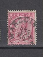 COB 46 Oblitération Centrale WARCOING - 1884-1891 Leopoldo II