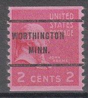 USA Precancel Vorausentwertung Preo, Bureau Minnesota, Worthington 841-61 - Vereinigte Staaten