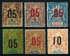 Guinea (Francesa) Nº 48/53*/(*)/º Cat.17,50€ - Guinea Francesa (1892-1944)